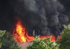 Fuego y humo Fotos de archivo