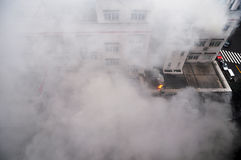 Fuego y humo Imágenes de archivo libres de regalías