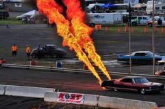 Fuego y humo Foto de archivo libre de regalías