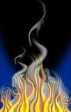 Fuego y humo de la historieta Ilustración del Vector