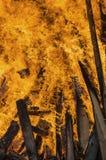 Fuego y llamas imagen de archivo libre de regalías