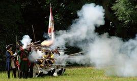 Fuego y niebla Fotos de archivo