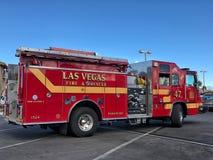 Fuego y rescate de Las Vegas imagen de archivo libre de regalías