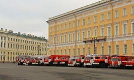 Fuego y rescate St Petersburg, Rusia Imagen de archivo libre de regalías
