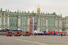 Fuego y rescate St Petersburg, Rusia Foto de archivo