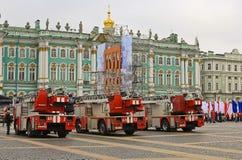 Fuego y rescate St Petersburg, Rusia Imágenes de archivo libres de regalías