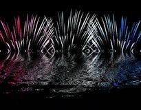 Fuegos artificiales ilustración del vector