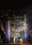 Fuegos artificiales 2012 de Noche Vieja de Toronto Imágenes de archivo libres de regalías