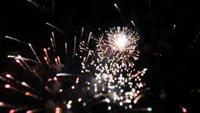 Fuegos artificiales almacen de metraje de vídeo