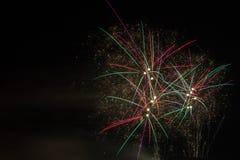 Fuegos artificiales 2016 Imágenes de archivo libres de regalías