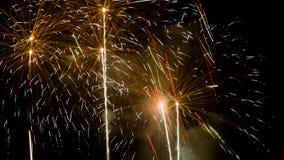 Fuegos artificiales - Año Nuevo 2014 Foto de archivo