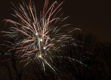 Fuegos artificiales - Año Nuevo 2014 Foto de archivo libre de regalías