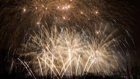 Fuegos artificiales - Año Nuevo 2014 Fotografía de archivo