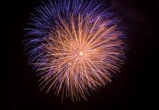 Fuegos artificiales aislados del tiro cercano Imagen de archivo libre de regalías