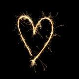 Fuegos artificiales: Amor Fotos de archivo