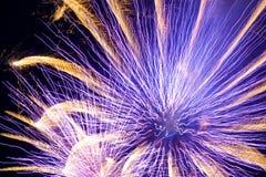 Fuegos artificiales azules Foto de archivo libre de regalías