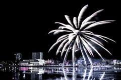 Fuegos artificiales brillantes Fotos de archivo