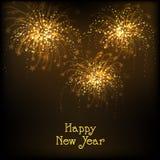 Fuegos artificiales brillantes para la celebración de la Feliz Año Nuevo Foto de archivo libre de regalías
