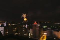 Fuegos artificiales céntricos, cuarto de julio, Memphis, TN Fotografía de archivo