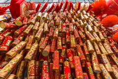 Fuegos artificiales chinos del Año Nuevo fotografía de archivo