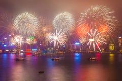 2015 fuegos artificiales chinos del Año Nuevo Fotos de archivo