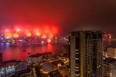 2015 fuegos artificiales chinos del Año Nuevo Foto de archivo