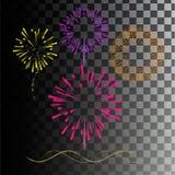 Fuegos artificiales coloreados Imagen de archivo libre de regalías