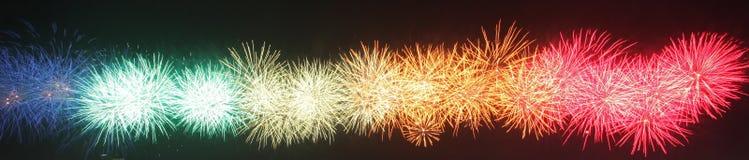 Fuegos artificiales coloridos Fotografía de archivo