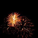 Fuegos artificiales coloridos Foto de archivo