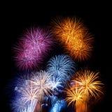 Fuegos artificiales coloridos Foto de archivo libre de regalías
