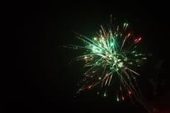 Fuegos artificiales coloridos Imagen de archivo libre de regalías