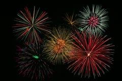 Fuegos artificiales coloridos brillantes Imagen de archivo