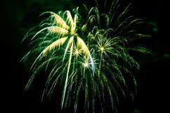 Fuegos artificiales coloridos en fondo negro Imagen de archivo libre de regalías