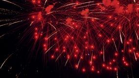 Fuegos artificiales coloridos en la celebración del día de fiesta 4K almacen de metraje de vídeo