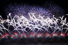 Fuegos artificiales coloridos en Malta, 2017 Fotografía de archivo libre de regalías