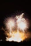 Fuegos artificiales coloridos enormes Fotos de archivo libres de regalías