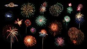 Fuegos artificiales compuestos Fotografía de archivo libre de regalías
