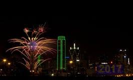 Fuegos artificiales - Dallas Tejas Fotografía de archivo libre de regalías
