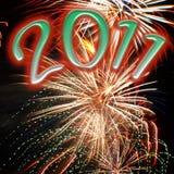 Fuegos artificiales de 2011 Fotos de archivo libres de regalías