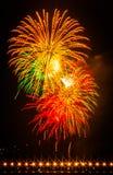 Fuegos artificiales de Carlsbad Foto de archivo