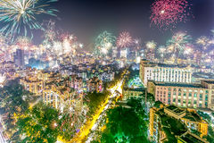Fuegos artificiales 2014 de Diwali Foto de archivo