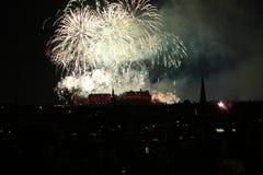Fuegos artificiales de Edimburgo Imagen de archivo libre de regalías