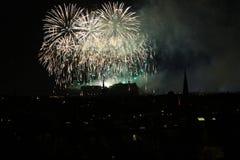 Fuegos artificiales de Edimburgo Foto de archivo libre de regalías