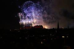 Fuegos artificiales de Edimburgo Fotografía de archivo libre de regalías