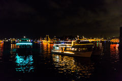 Fuegos artificiales de Eve 2015 de Sydney New Year Fotografía de archivo