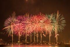 Fuegos artificiales de Hanabi Fotos de archivo libres de regalías