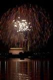 Fuegos artificiales de la C.C. Imagen de archivo libre de regalías