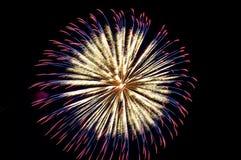 Fuegos artificiales de la celebración Fotografía de archivo