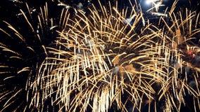Fuegos artificiales de la celebración del Año Nuevo de la Navidad 4K metrajes
