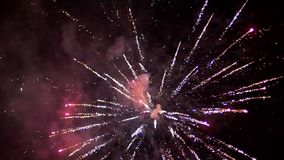 Fuegos artificiales de la explosión